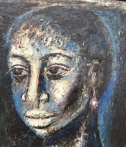 ADJUGE : 50 000.00 €uros le Dimanche 21 Octobre 2018 Gérard SEKOTO (1913-1993) Portrait...