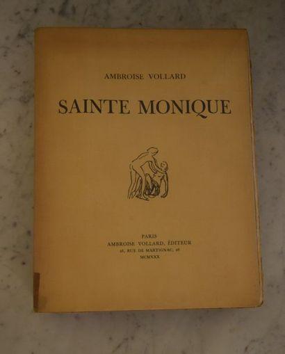 [BONNARD]. VOLLARD (Ambroise). Sainte Monique....