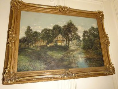 Charles WARLAND (1856-1921), Le Parc de Rouchoux,...