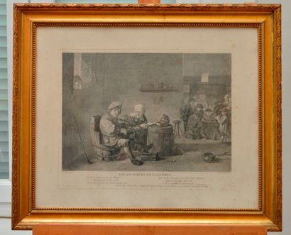 Paire de deux gravures d'après Teniers. «...