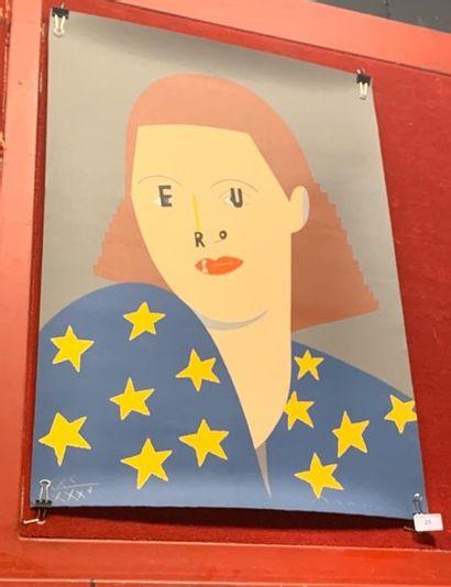 Eduardo ARROYO (1937-2018), Europa, 1989,...