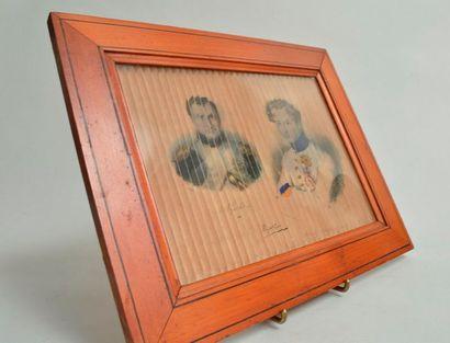 Pliage lithographique représentant Napoléon...