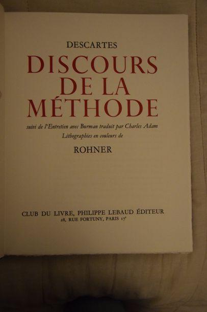DESCARTES - ROHNER. Discours de la méthode....