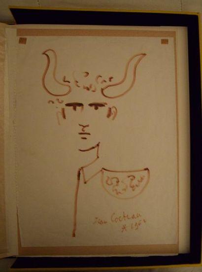 TAUREAUX, lithographies de Jean Cocteau....