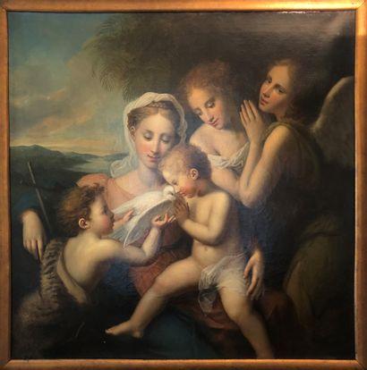 Ecole ITALIENNE du XIX ème, Vierge à l'enfant...