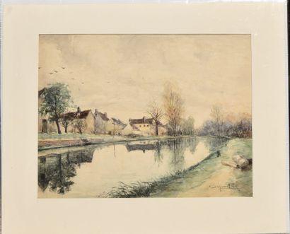 Georges ROSE (1895-1951), Hameau et canal,...