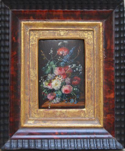 Ecole BELGE vers 1900, Bouquet de fleurs...