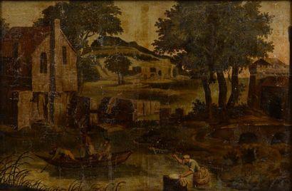 Ecole HOLLANDAISE fin XVII-début XVIIIème,...