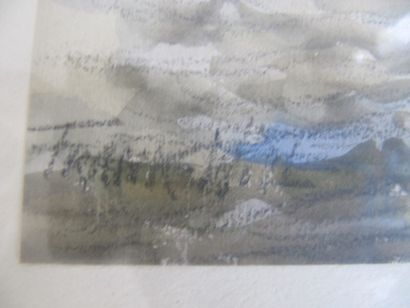 """FRANK WILL (1900-1951) """"La Conciergerie"""", aquarelle signée. 23 x 45 cm"""