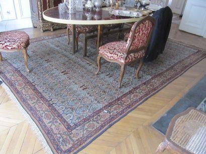 Mir-Serabend Grand tapis décor de croisillons,...