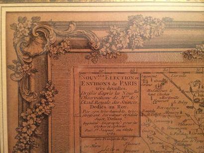 """Deux Gravures """"Paris et ces environs"""" et Paris et Faubourg"""", tirages XIXème d'après..."""