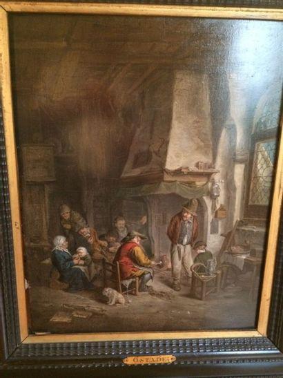 Ecole XVIIIème, d'après Adriaen Van OSTADE