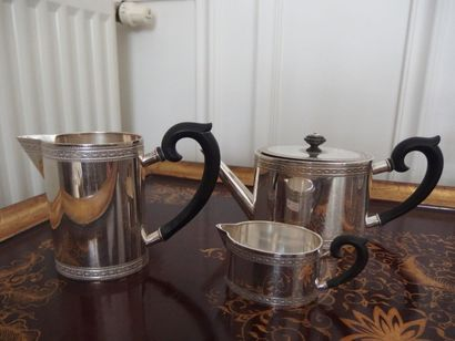 Service à thé en argent 800/ comprenant une...