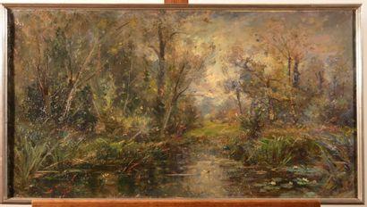 NOIROT Emile (1853-1924), NOIROT Emile (1853-1924), Mare du Bourzat (Allier), 1920,...