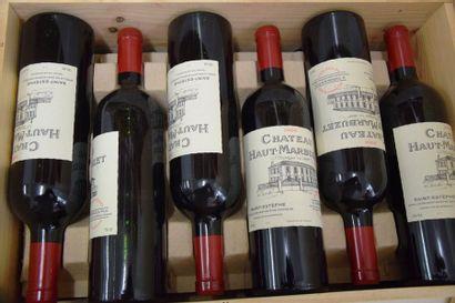 12 bouteilles CH. HAUT MARBUZET, Saint-Estèphe 2000 cb