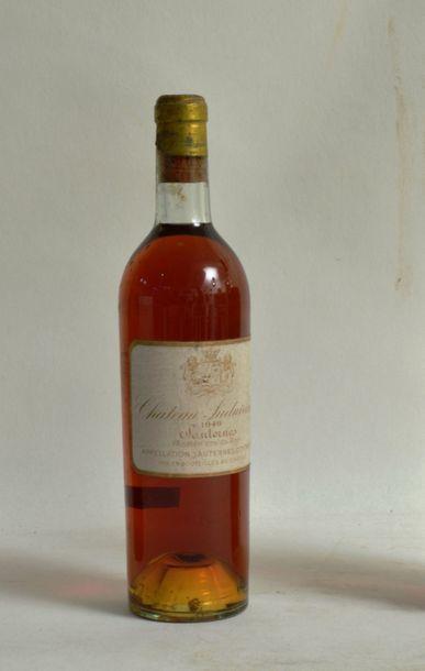 1 bouteille CH. SUDUIRAUT, 1 er cru Sauternes 1949 (elb, lb, ca)