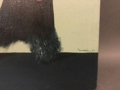 "PERAHIM Jules (1914-2008) ""Objets à toucher"" - HST -SBD - Datée 1974 - dim. 65 x81..."