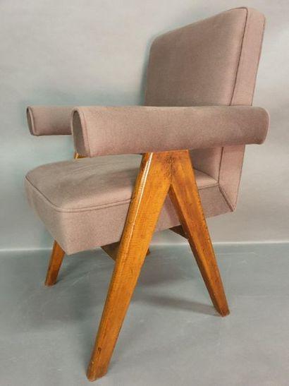 JEANNERET Pierre (1896-1967), fauteuil modèle...