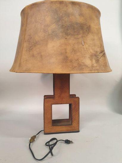 LAMPE de bureau années 50-60, pied gainé...