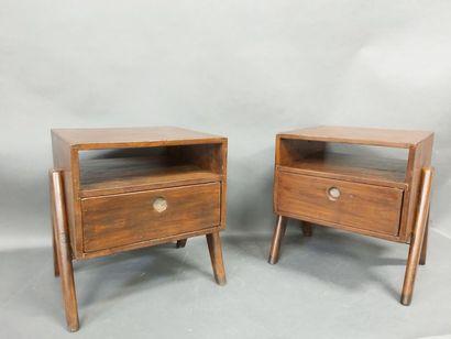 JEANNERET Pierre (1896-1967), Paire de meubles...