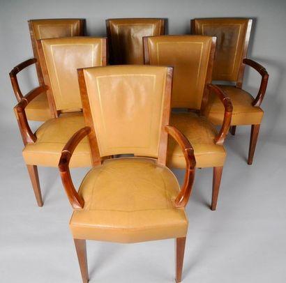 Eugène PRINTZ (1889-1948), Série de 6 fauteuils...