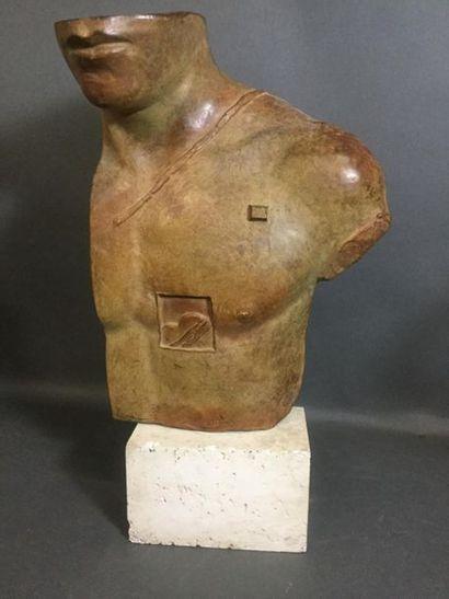MITORAJ Igor (1944-2014), buste d'Asclépios,...