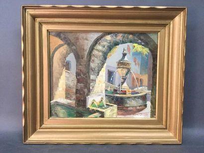 M. JUENIN (XXème), La fontaine de Saint-Paul...
