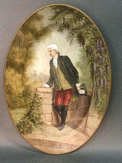 Eugénie DEBRAUX (XIX-XX), portrait d'un gentilhomme...