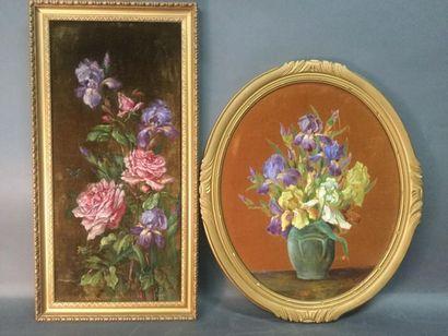 Eugénie DEBRAUX (XIX-XXème), Lot de deux...