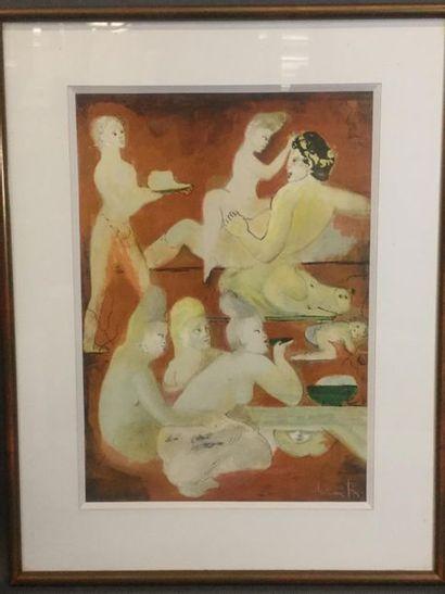 FINI Leonor(1907-1996), Scène d'orgie Lithographie,...