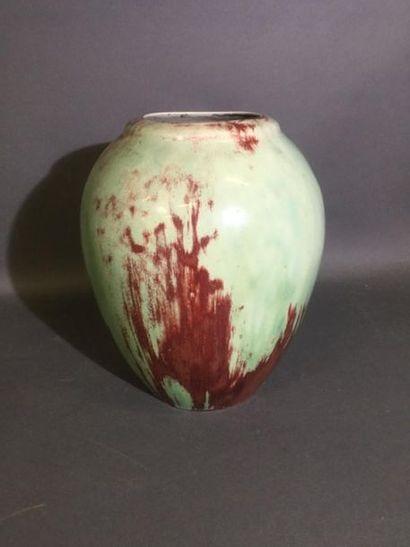 MOUGIN Joseph (1876 - 1961), Vase émaillé...