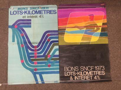 Lot de 2 AFFICHES SNCF, années 70, 100 x...