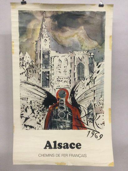 DALI Salvador (1904-1989), AFFICHE SNCF....