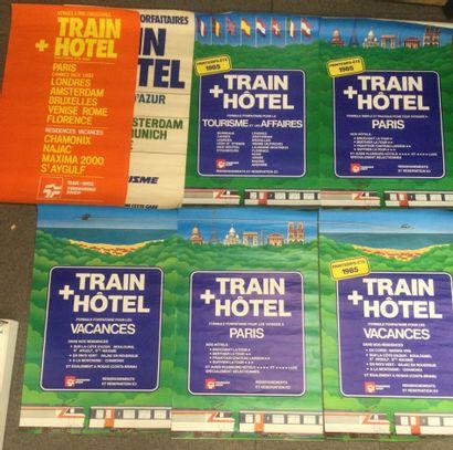 Lot de 7 AFFICHES SNCF, années 80, 100 x...