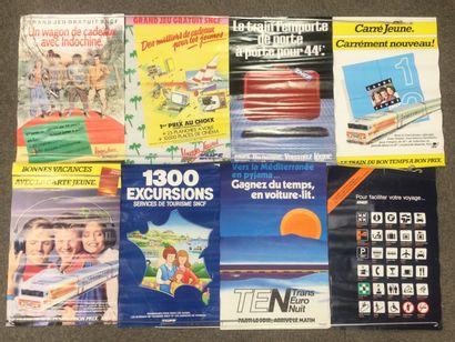Lot de 8 AFFICHES SNCF, années 80, petit...