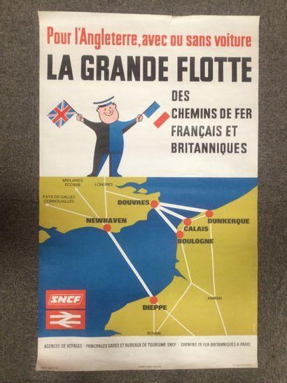 AFFICHE SNCF, La Grande Flotte, 1969, 100...
