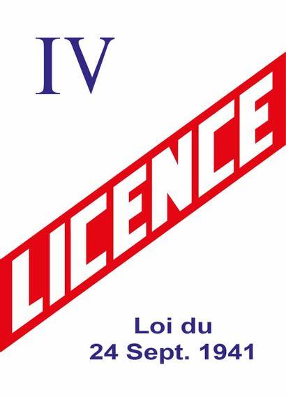 Licence d'exploitation de débit de boissons...