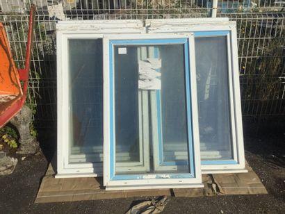 7 fenêtres en PVC double vitrage, dim. 138...