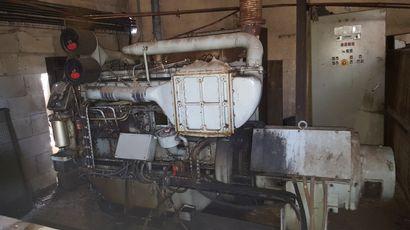 Groupe électrogène Poyaud diesel, 6 cylindres,...