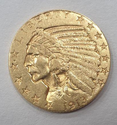 MONNAIE Américaine en or de 5 Dollars