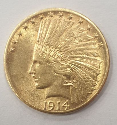 MONNAIE Américaine en or de 10 Dollars