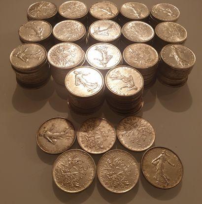 MONNAIE MODERNE - Lot de 176 pièces de 5...