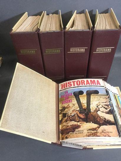 """HISTORAMA"" 5 classeurs de 12 magazines militaire..."