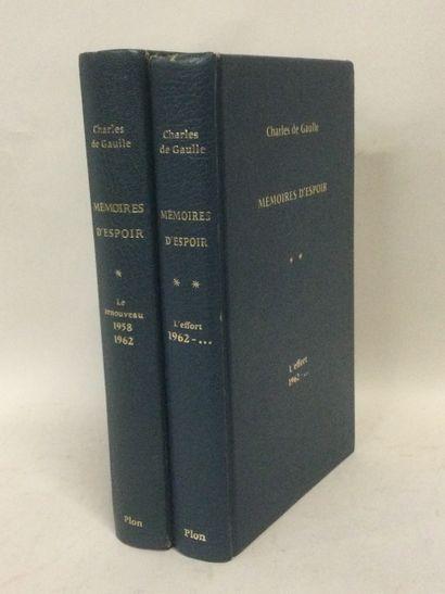 Charles De Gaulle, Mémoires d'espoir, 2 Volumes...