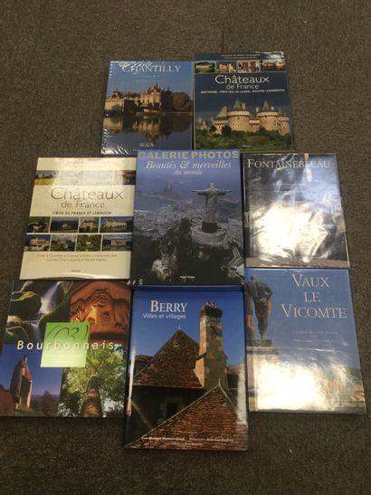 Lot de 7 livres sur les châteaux français...