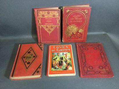 Lot de cinq livres de prix comprenant : Jean...