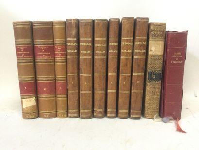 THEOLOGIE, Lot de 11 Volumes XIXème comprenant...