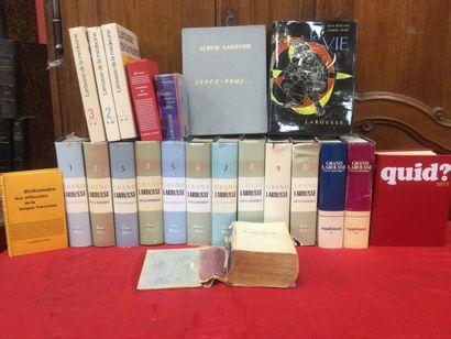 Lot comprenant : Le grand Larousse encyclopédique...