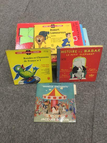 Lot enfantina: 12 livres pour enfants ( Babar,...