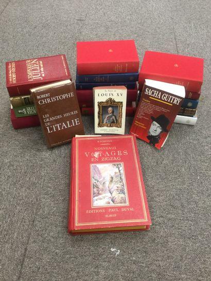Lot de 20 romans: Sacha Guitry, Nicolas Machiavel,...